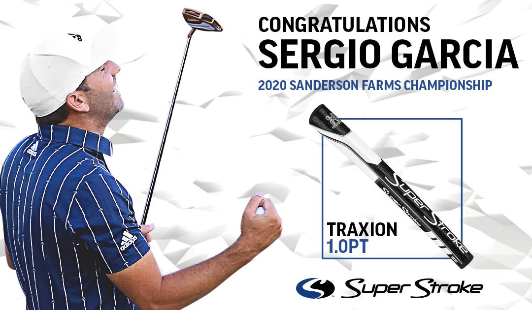 Sergio Garcia wins at Sanderson Farms using a SuperStroke 1.0PT